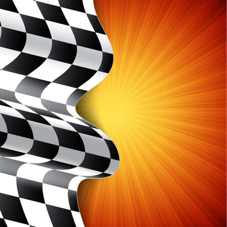 Race background. Checkered flag. EPS10 vector Vector