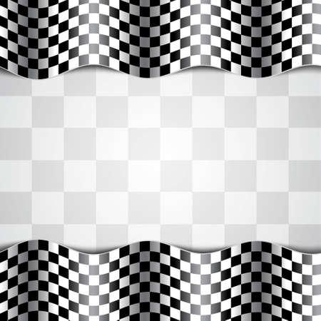 レース背景。チェッカー フラグ。EPS10 ベクトル