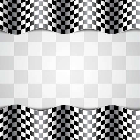 Race background. Checkered flag. EPS10 vector Stock Illustratie