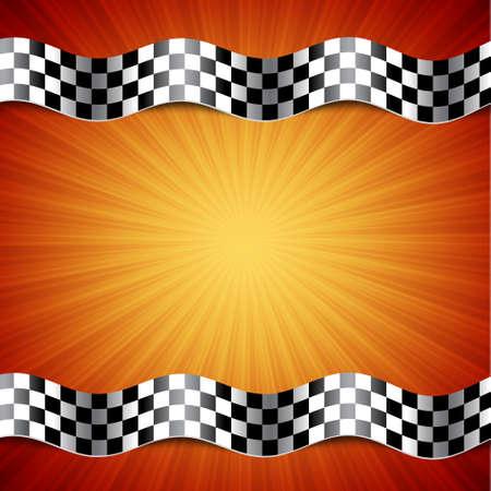 drag race: Race background. Checkered flag.  Illustration