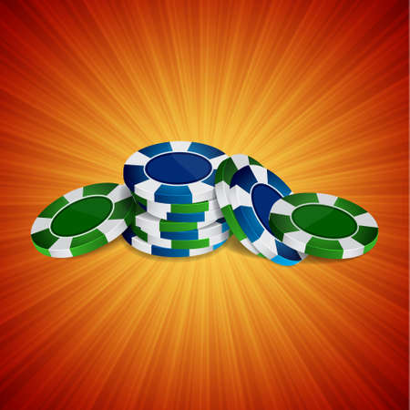 poker chip: Casino background with chips. EPS10 vector