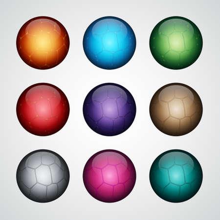 glossy buttons: Insieme di pulsanti lucidi stilizzati.