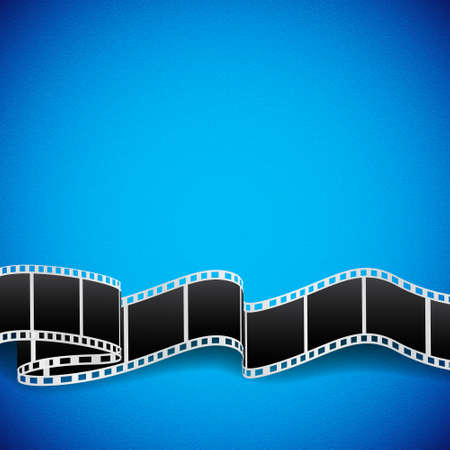 movie poster: Abstract background with film reel.