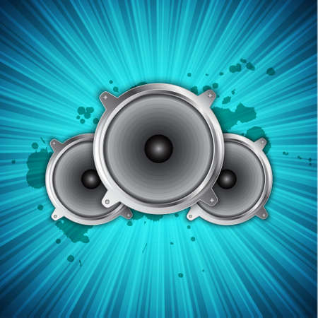 Music background with speakers. EPS10 vector Vector