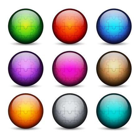 glossy buttons: Insieme di pulsanti lucidi stilizzati. EPS10 vettore
