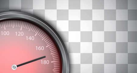 Racing background with speedometer.