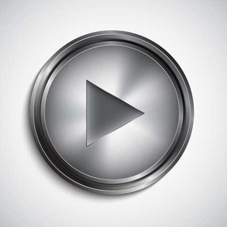 Play button. Vector