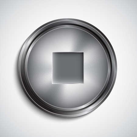 Stop button. EPS10 vector Vector
