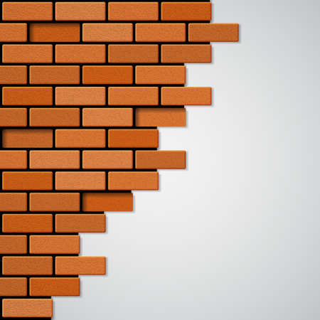 construction materials: Brick wall. EPS10 vector
