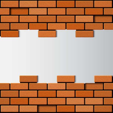concrete block: Brick wall. EPS10 vector