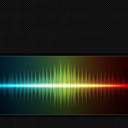 Equalizer background. Music wave. EPS10 vector Illustration