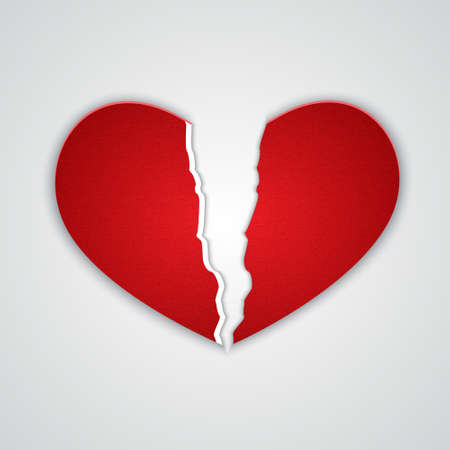 ragged: Ragged paper heart.