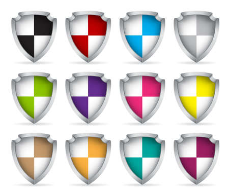 Set of icons shield.