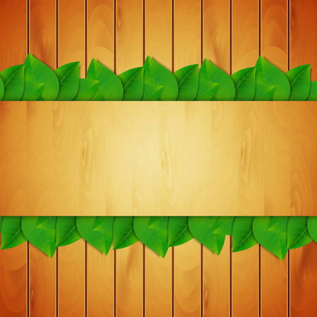 Green leaves background.  Illustration