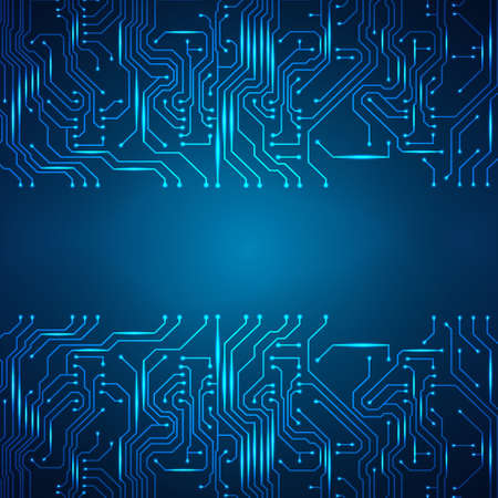 Circuit board background.  Vector