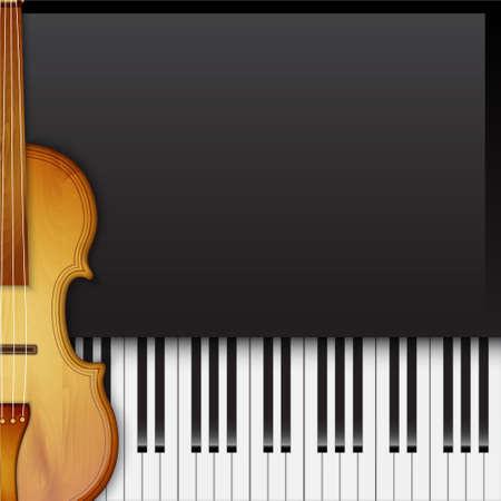 Contexte avec violon Banque d'images - 34412521