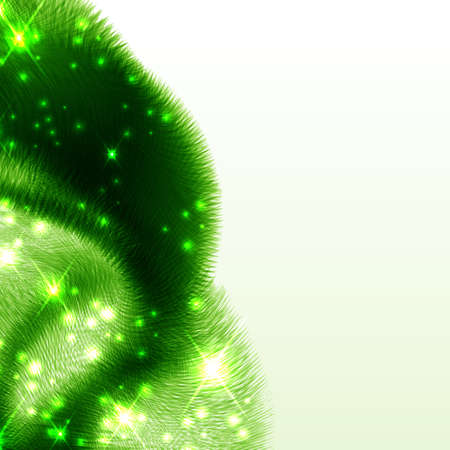 Abstract green futuristic wave background.