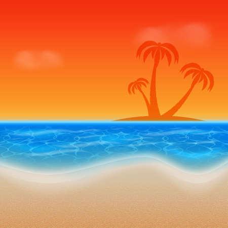 verano: Verano de fondo Vectores