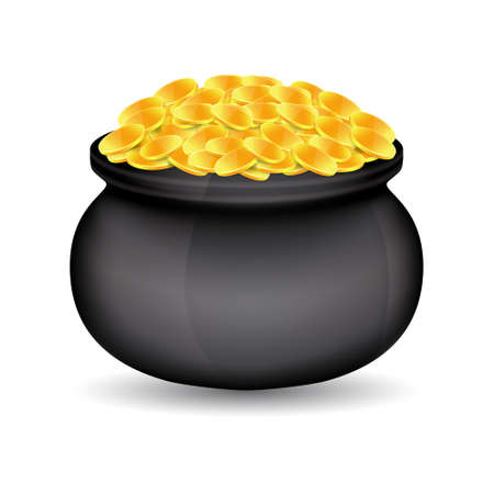 leprechaun background: Pot of gold Illustration