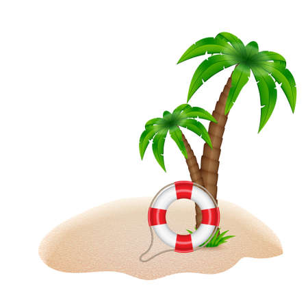 summer: Летний фон Иллюстрация