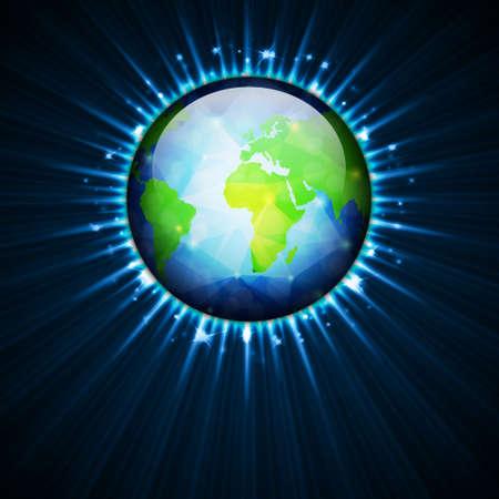 Globe of Earth Vector
