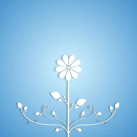 paper background: Achtergrond met papieren bloem