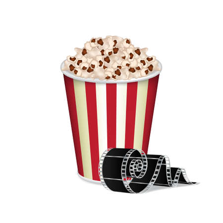 cinematographer: Bag of popcorn Illustration