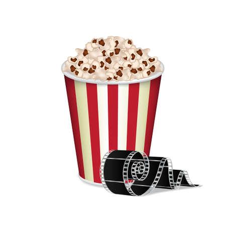 Bag of popcorn Illustration