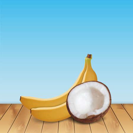 Coconut and bananas