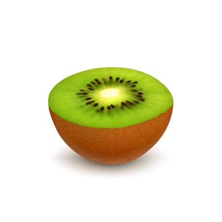 kiwi: Kiwi on white