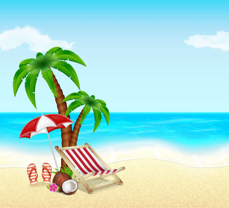 Summer vacation Stock Illustratie