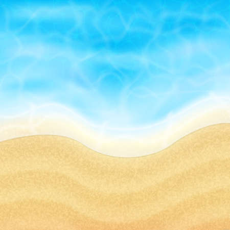 topical: Summer vacation background. Topical sea and beach.  vector