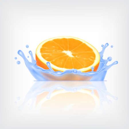 splashing water: Orange fruit in splashing water.