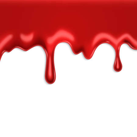 Dripping blood on a white background.