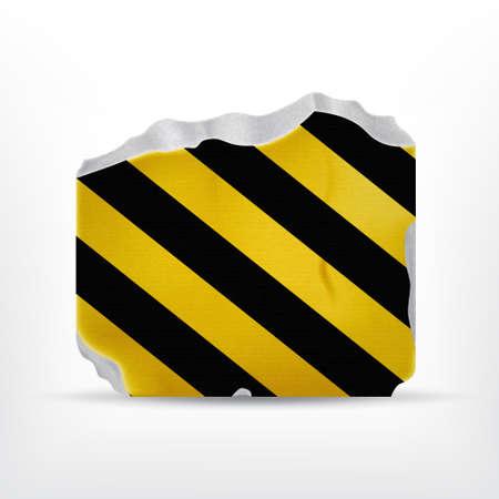 concrete block: Broken stone with warning stripes