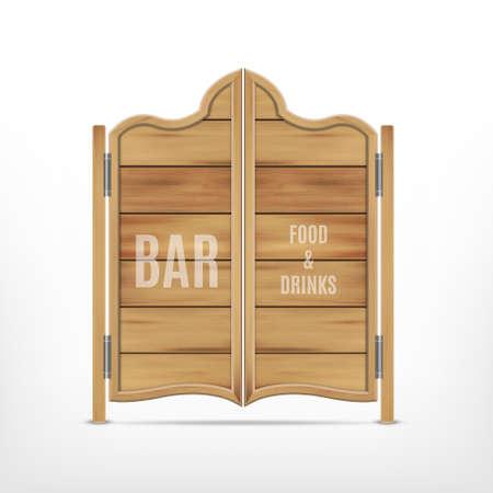 Old western saloon door