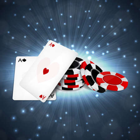 Two aces with chips Illustration