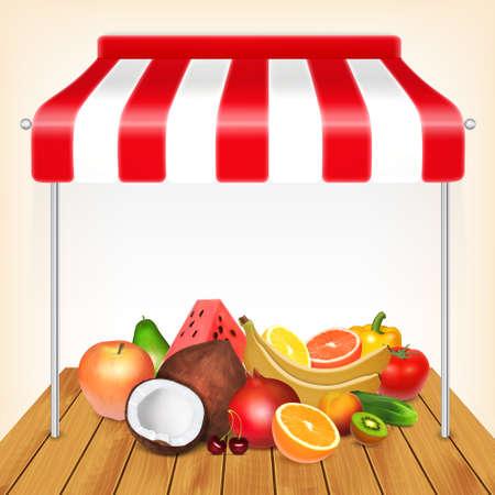 Fruits market concept.