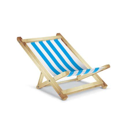 reclining: Striped beach chair