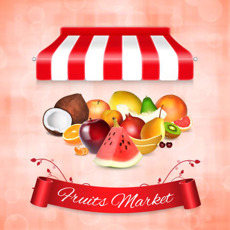 Fruits market concept