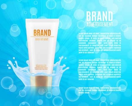 Realistic cosmetic bottle
