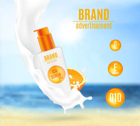 Sunscreen milk with citrus extract