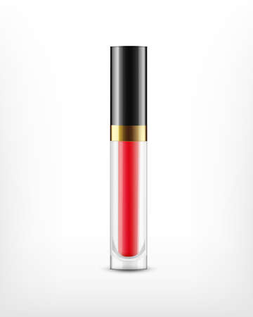 Lip gloss in glass bottle Vektorové ilustrace