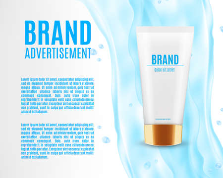 Cosmetic ads template.