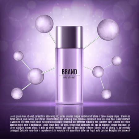 glass reflection: Cosmetic ads template Illustration