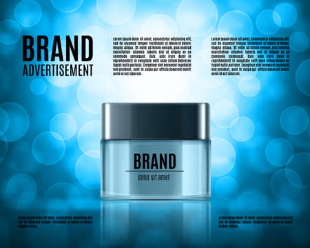 glass reflection: Cosmetic ads template.