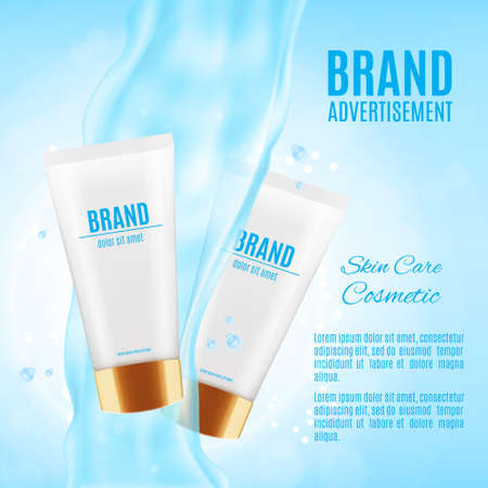 Cosmetic ads template Illustration