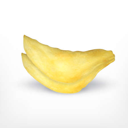 Potato chips isolated on white Illustration