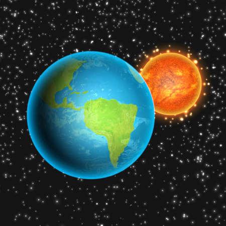 Outer space vector illustration design Illustration