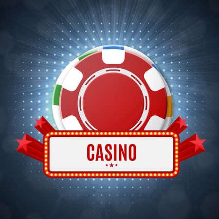 Casino chips Top view Vector illustration. Illustration
